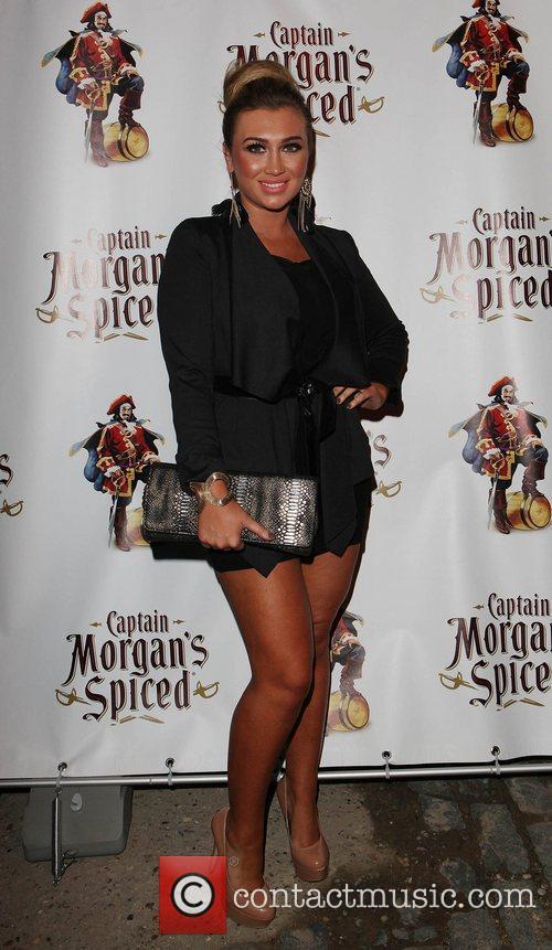 Lauren Goodger The Captain Morgan's Spiced beach party...