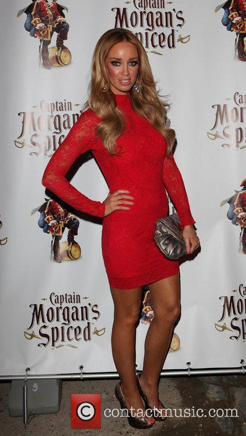 Lauren Pope The Captain Morgan's Spiced beach party...