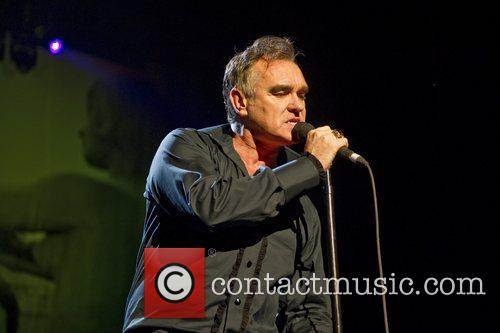 Morrissey performing live at Brixton Academy in London