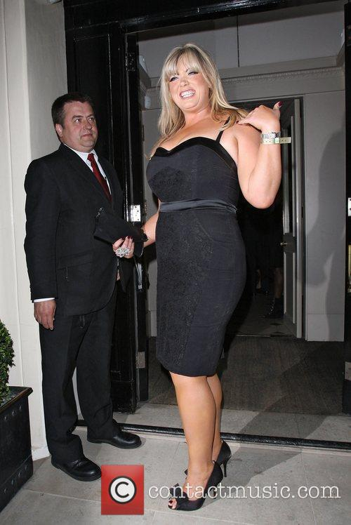 Gemma Collins leaving Spring Summer 2012 collection of...