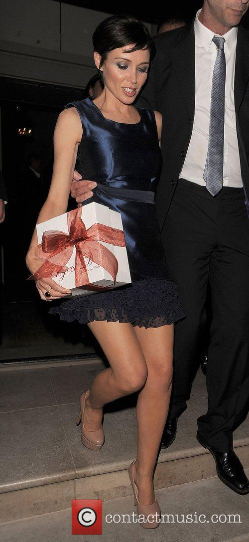 Dannii Minogue leaving Spring Summer 2012 collection of...