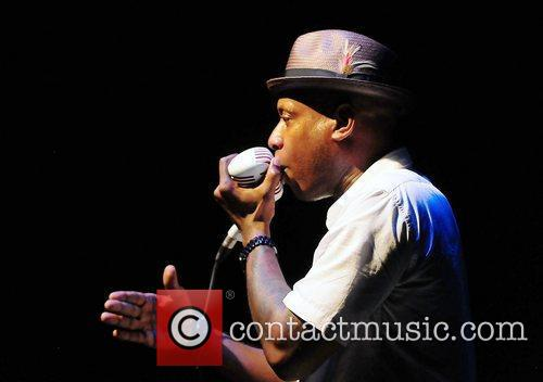 Talib Kweli performs with Mos Def at Fillmore...