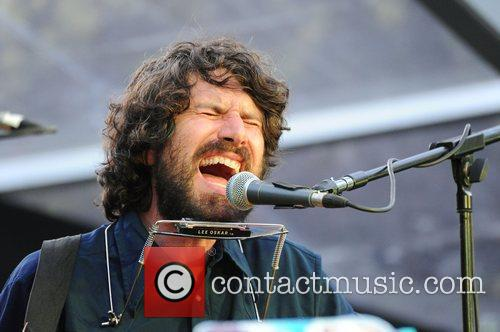Gruff Rhys playing the MAIN STAGE at the...