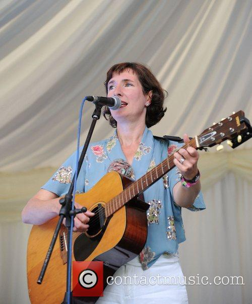 Rebecca Hollweg playing the LUNAR STAGE at the...