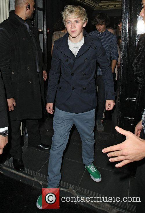 Niall Horan from One Direction leaving Movida nightclub...