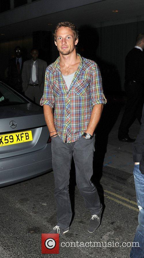 Jenson Button leaving Movida nightclub.