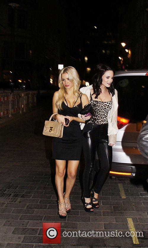 George Lineker's guests leaving Movida nightclub London England