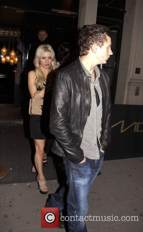 George Lineker and guests leaving Movida nightclub London...