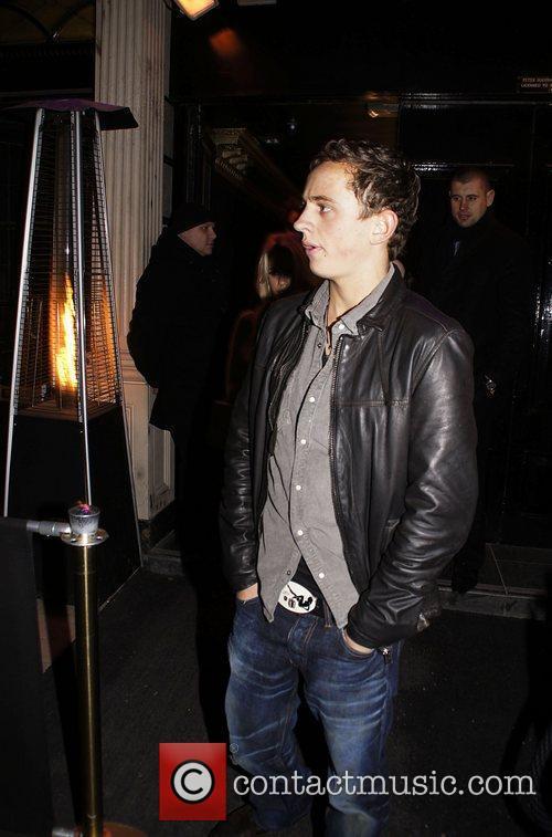 George Lineker leaving Movida nightclub  London England