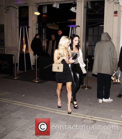 George Lineker's guests leaving Movida nightclub