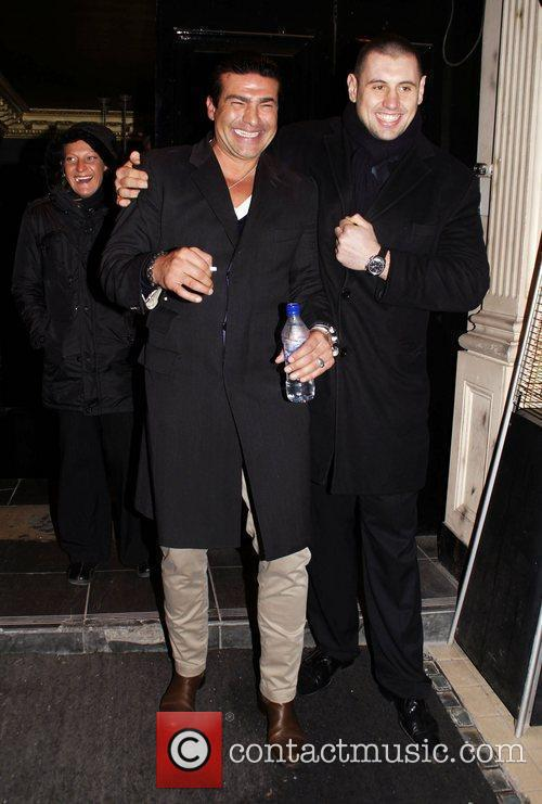 Tamer Hassan leaving Movida nightclub  London England