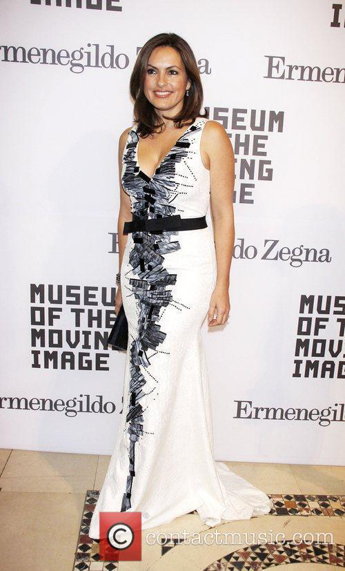 Mariska Hargitay wearing Carolina Herrera Museum of The...