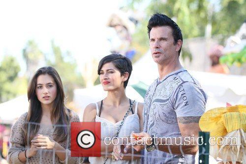 Lorenzo Lamas and his family (new wife, Shawna...