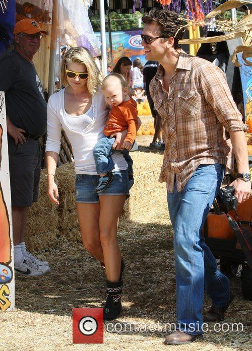 Celebrities spend the afternoon at Mr Bones Pumpkin...