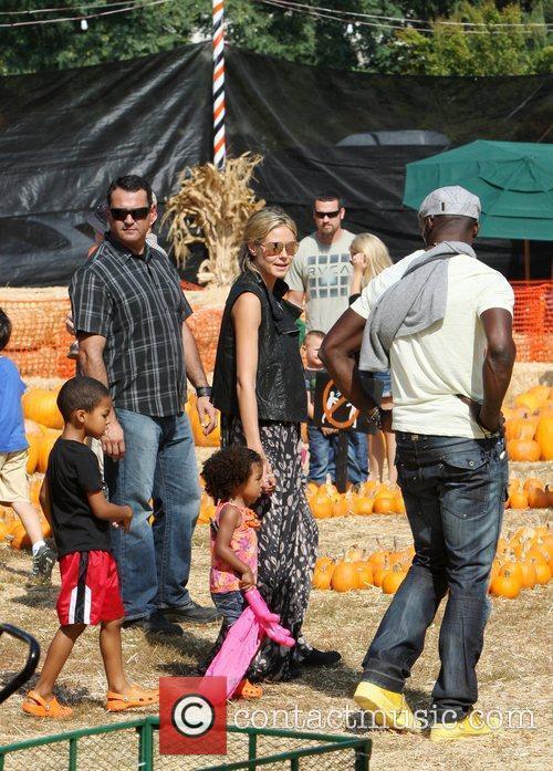 Heidi Klum and Seal with their children celebrities...