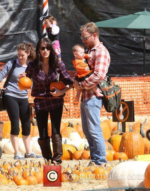 Ian Ziering and his family Celebrities attend the...