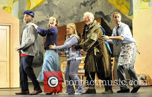 Cast,  performing for the 'Mr Stink' photocall...