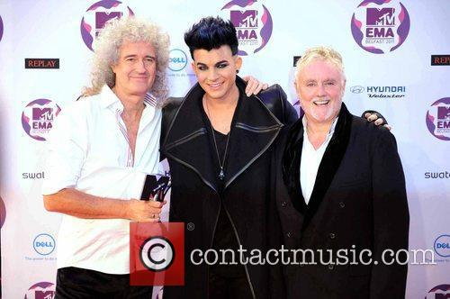 Brian May, Adam Lambert, Roger Taylor and Mtv European Music Awards 5