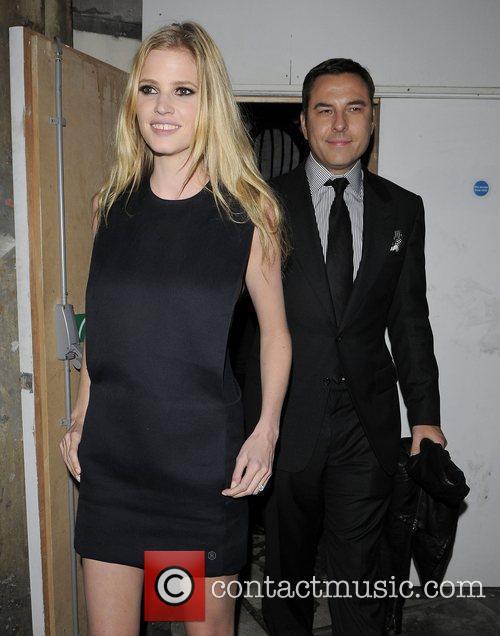 David Walliams and wifeLara Stone leaving the MTV...