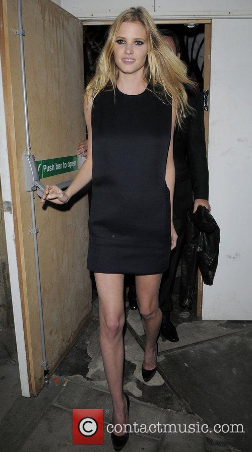 Lara Stone leaving the MTV Push & CK...
