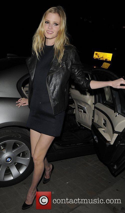Lara Stone arriving at the MTV Push &...