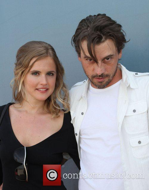 Skeet Ulrich and his wife Amelia Jackson Gray...