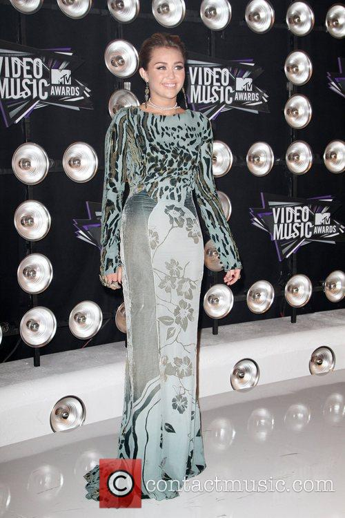 Miley Cyrus 2011 MTV Video Music Awards held...