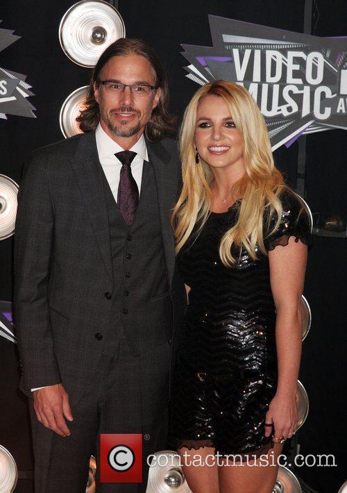 Britney Spears, boyfriend Jason Trawick  2011 MTV...