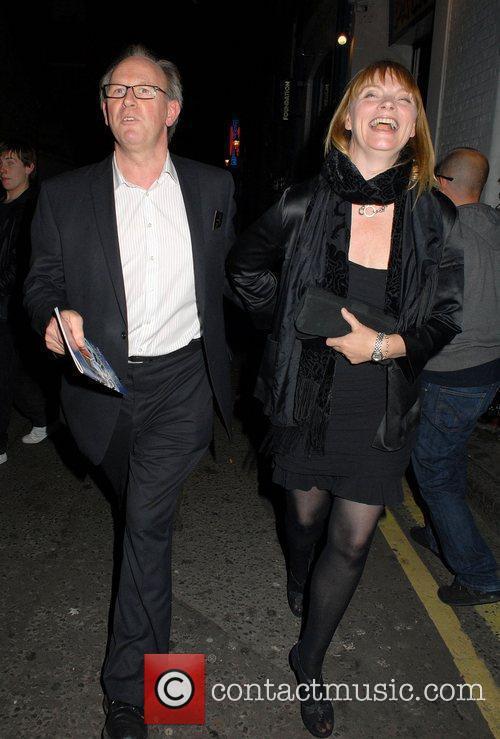 Peter Davison and wife Elizabeth Morton,  at...