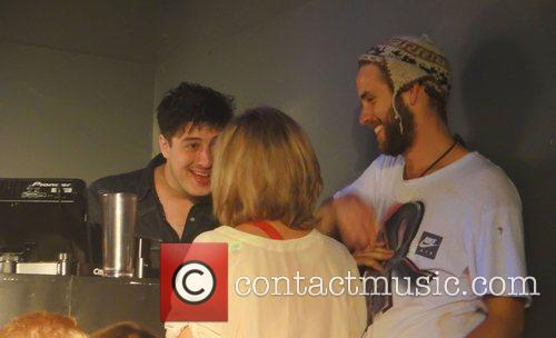 Marcus Mumford meets fans during DJing at the...