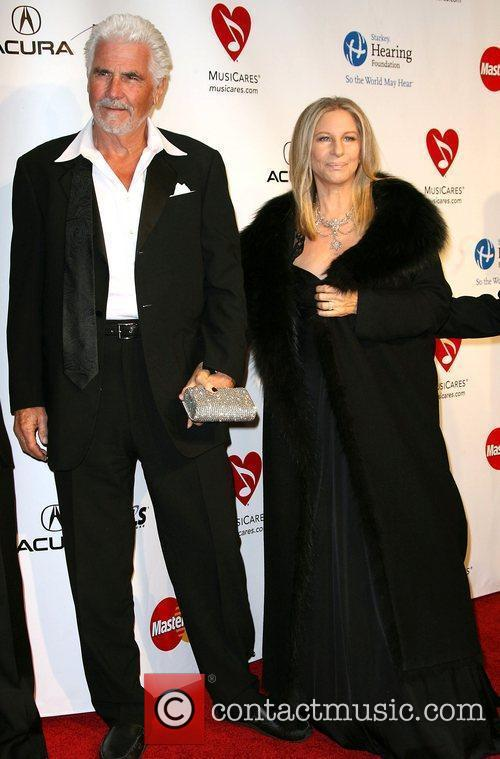 James Brolin and Barbara Streisand 2011 MusiCares Person...