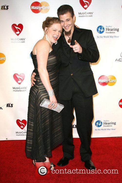 Crystal Bowersox and Brian Walker 2011 MusiCares Person...