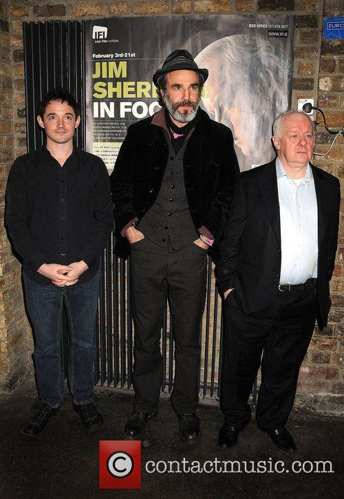 Hugh O'Connor, Daniel Day-Lewis, and director Jim Sheridan...