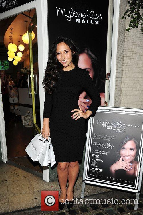 Myleene Klass at Myleene Klass Nails - pop-up...