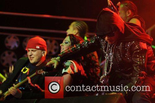 N-Dubz performing at The O2 Arena during their...