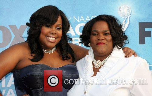 Amber Riley and her mother 42nd NAACP Image...