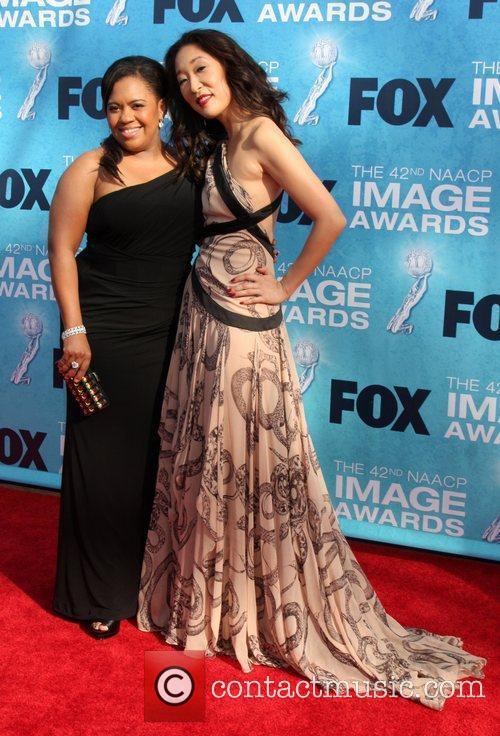 Chandra Wilson and Sandra Oh  42nd NAACP...