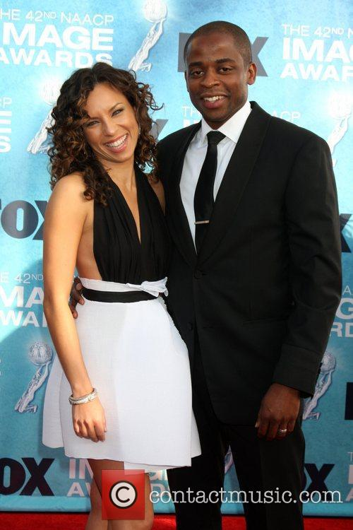 Dule Hill and his wife 42nd NAACP Image...