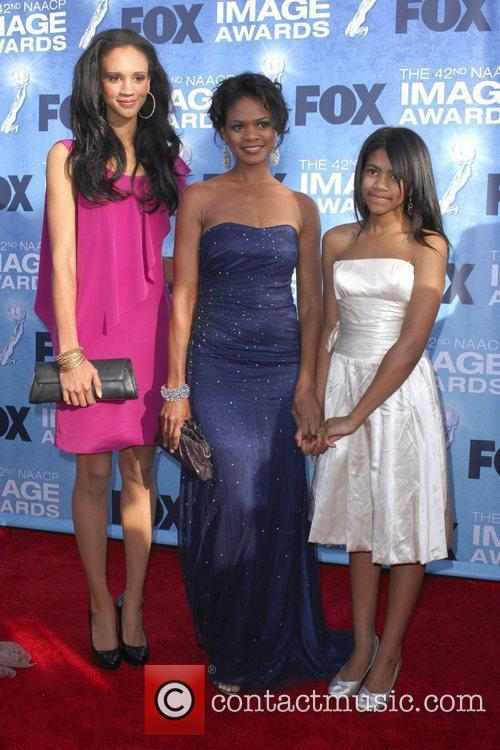 Kimberly Elise and daughters 42nd NAACP Image Awards...
