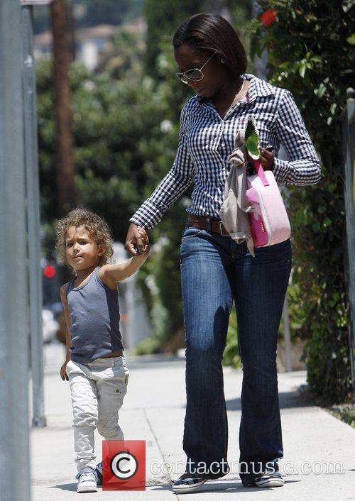 Halle Berry's daughter Nahla Aubry is seen leaving...