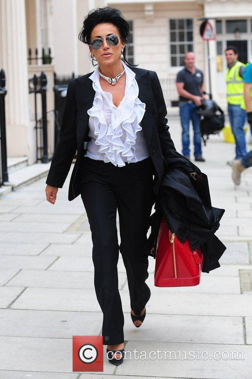 Nancy Dell'Olio walking in central London London, England