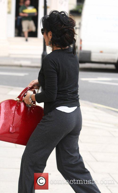 Nancy Dell'Olio  leaving a medical building on...