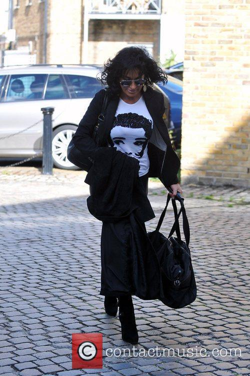 Nancy Dell'Olio arriving at Strictly Come Dancing rehearsals...