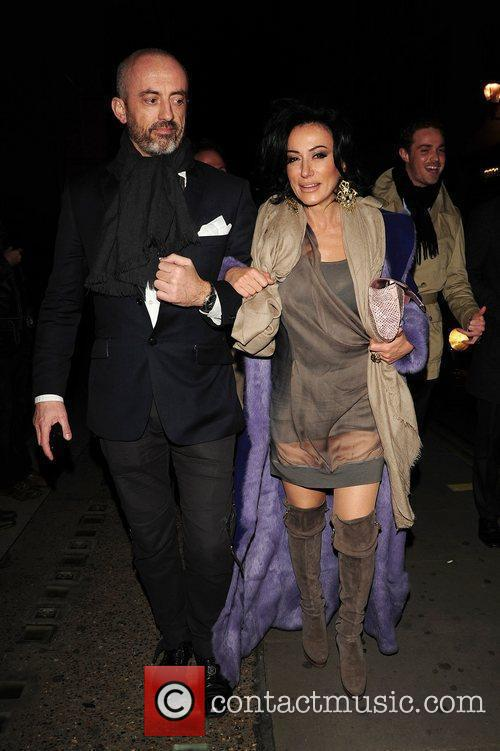 Nancy Dell'Olio out and about in Soho. London,...