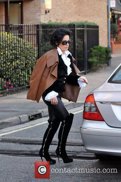 Nancy Dell'Olio leaving home in London