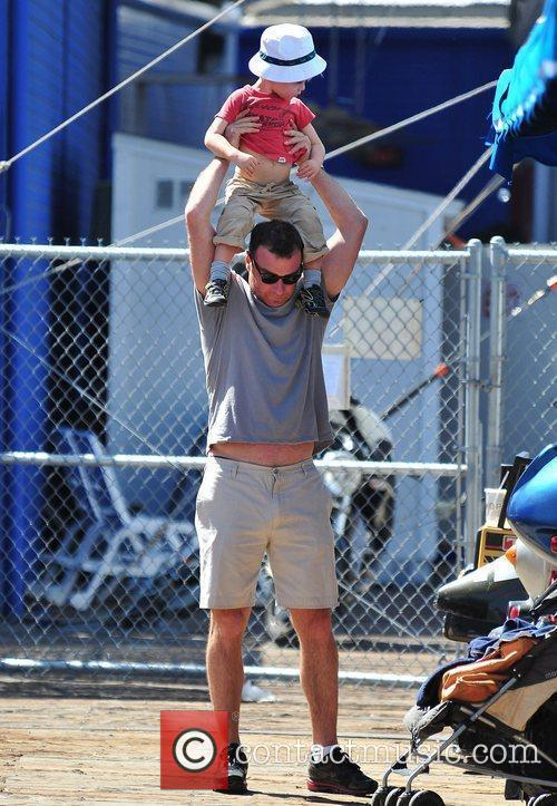 Liev Schreibee enjoys a family day out near...