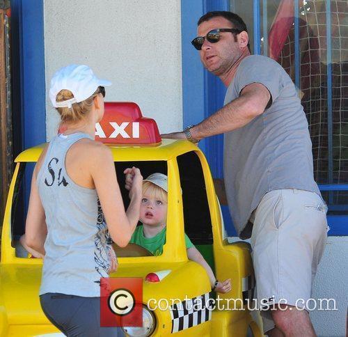 Naomi Watts and her boyfriend Liev Schreiber and...