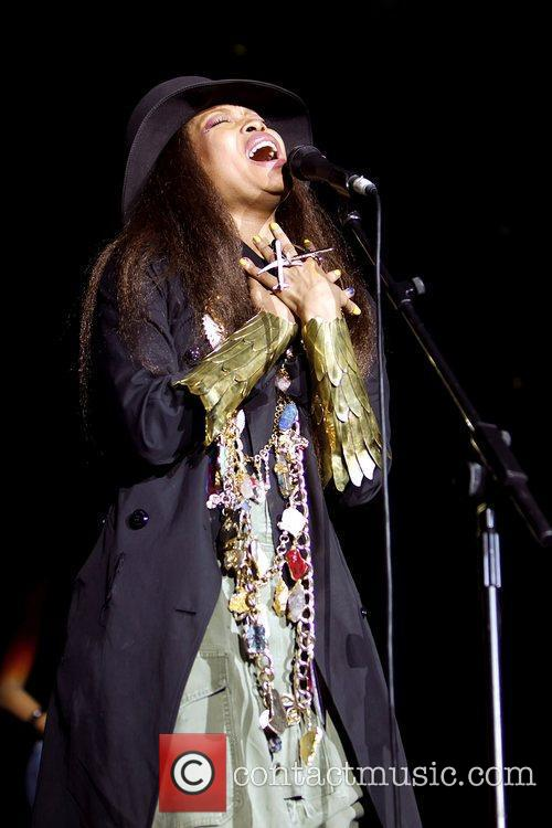 Erykah Badu performing live at Wembley Arena London,...
