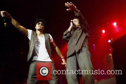Nas and Damian Marley performing live together at...