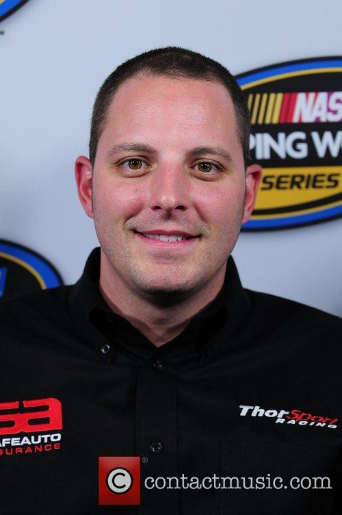 Johnny Sauter, driver of the #13 SafeAuto Insurance...
